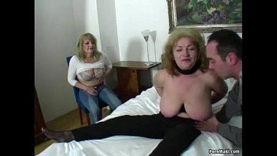 Lucky guy fucks two amazing grannies - 6 min