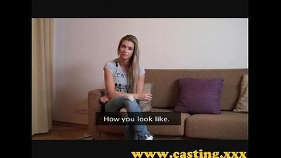 Casting - Athletic babe cums for real - 8 min