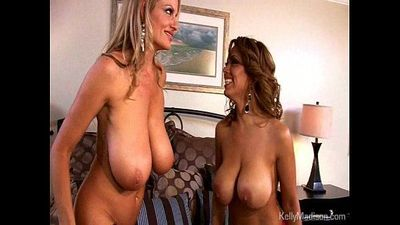 Big Titted MILFs Lick Each Other Dry - 4 min