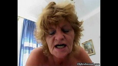 Nasty old lady gets fucked - 5 min
