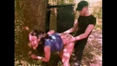 hitchhiker fucked in a forest - 4 min