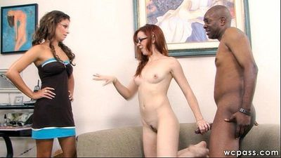 Interracial Step MILF and Daughter - 9 min