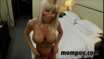 hot blonde mature milf gets a big facial - 5 min