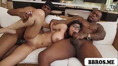 ชื่อมีอา khalifa ร้อนแรง เซ็กซี่ วัยรุ่น ผมสีน้ำตาล ระยำ โดย สองคน สีดำ ปีศาจ หล่อก่อน