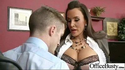 Office Girl (lisa ann) With Big Melon Boobs Get Hardcore Sex movie-24
