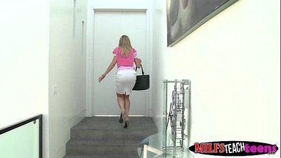 Brandi Love teaching Casi and her boyfriend the art of sex