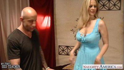 Chesty blonde teacher Julia Ann fuckingHD