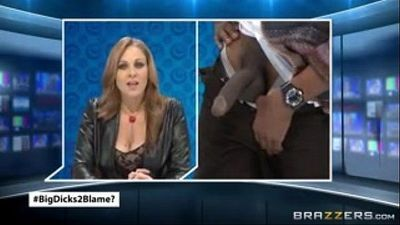 Julia Ann News Caster fuck by Big Black Dick