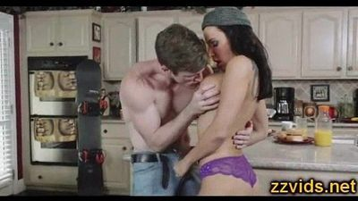Lezley Zen fucked in the kitchen