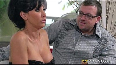 Huge tits wife Lezley Zen fucked and cum facialed