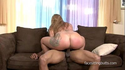 Naive blonde MILF can really serve a big fat black cock