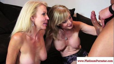 Nina Hartley and Erica Lauren taste cumHD