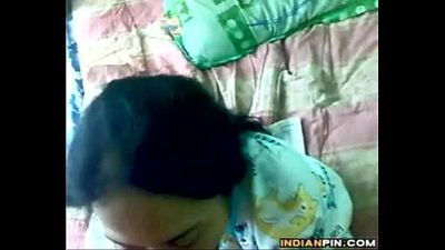 Indian Aunty Giving A Blowjob Point Of View - 2 min