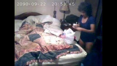 Hidden cam recorded my mom masturbating on bed - 1 min 41 sec
