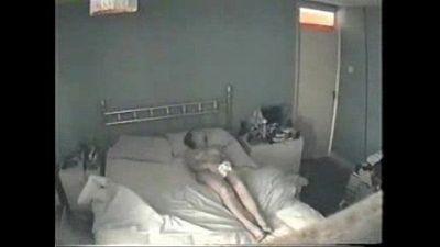 Masturbation of my mum caught by hidden cam - 30 sec