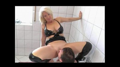 Blonde Misstress pees on her slave - CassianoBR - 2 min