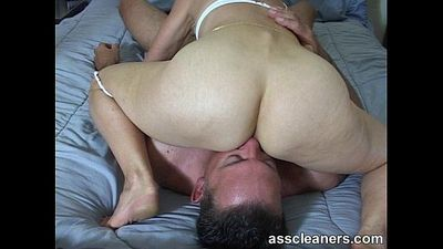In a sixty-nine position for ass munching and cock sucking - 2 min