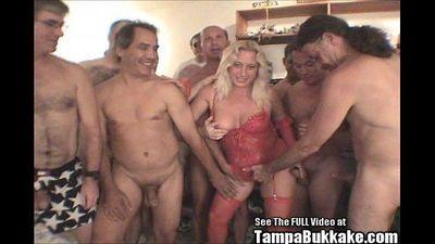 Blonde MILF Darian Sucks Out Cocks Semen - 8 min