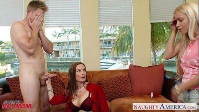 Naughty moms Diamond Foxxx and Marsha May share cock - 9 min HD