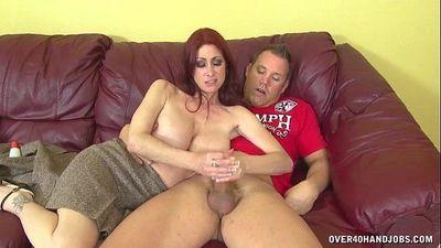 Busty Redhead Milf Jerks Off A Boner - 5 min HD