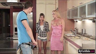 Gina has threesome with stepmum Kathia - 6 min