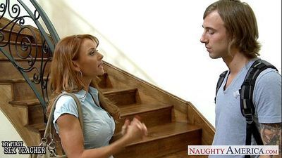 Hottie teacher Janet Mason gets facialized - 8 min HD