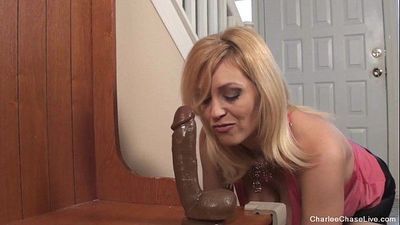 Horny Hot MILF Charlee Chase Horny for BBC Dildo - 7 min HD