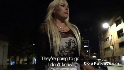 Fake cop fucks huge tits blonde Milf pov - 7 min HD