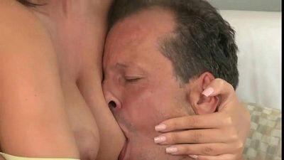Busty mature wanks and fucks hard dick - 9 min