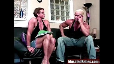 hot mature bodybuilder steamy horny - 6 min