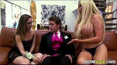 Prom Night 3some with Remy LaCroix and stepmom Nikki Benz - 7 min
