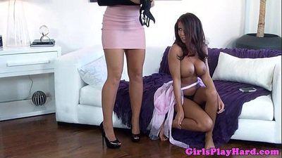 Busty lesbians MILFS in pussy fingering session - 8 min HD