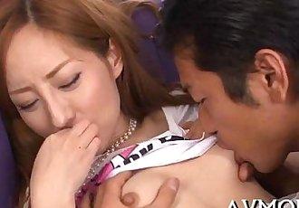 Lustful milf receives threesome - 5 min
