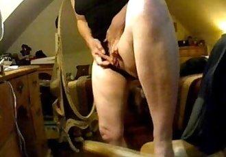 Have a look of huge clit of my mom. Hidden cam - 1 min 35 sec