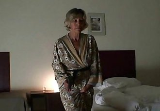 Mature babe pleases two robbers - 6 min