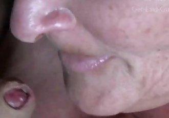 Granny Eating Cum CLOSEUP - 2 min