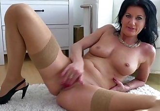 MILF masturbating in stockingsHD