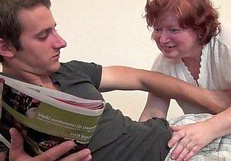 Full figured grandma seduces sons friend - 6 min HD
