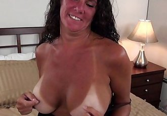 Busty Texas MILF with tan linesHD