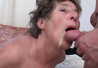 Hairy granny loves anal sex - 5 min HD