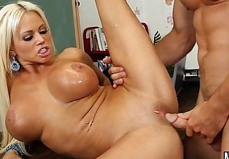 Big Tits Blonde Rides Class Nikita Von JamesHD