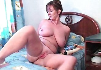 British milf Joy pushes dildo up her ass - 6 min HD