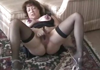 Senior Slutwife Sarah, hubby made me do this! - 1 min 10 sec