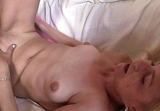 Skinny granny fucks for work - 6 min HD