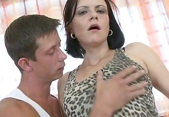 Amateur mature mother fucks her young stud