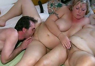 OldNanny Chubby mature and chubby milf have threesome sex - 8 min HD