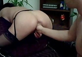 Extreme amateur wife fisted in her loose hole - 5 min