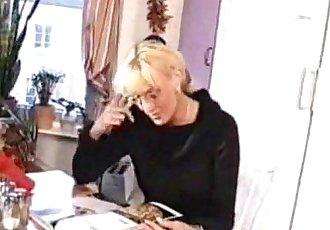 Mature Blondes Sex In Kitchen