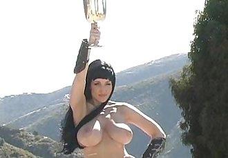 Danni Ashe - Xanni Warrior Temptress - 5 min