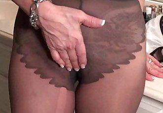 American milfs Penny and Amanda love masturbating in nylonHD